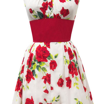 Trashy Diva Orlando Dress | Retro Inspired Dress | Red Roses Print