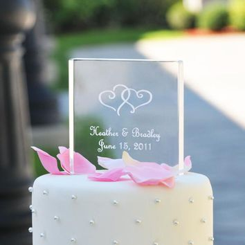 Personalized Acrylic Square Cake Topper