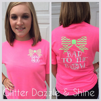 Cheer Shirt- Bad To The Bow