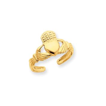 Claddagh Toe Ring in 14K Yellow Gold