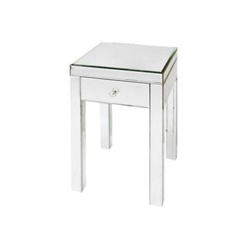 Threshold™ Mirrored Glass Accent Table with Drawer 25""