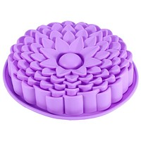 """9"""" Sunflower Cake Mould Pan Bread Pizza Baking Tray Silicone Mold Baking Tools Color Send by Randomly"""