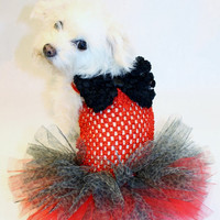RockinDogs Red Cheetah Print Dog Tutu
