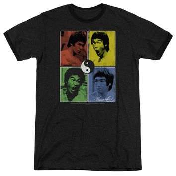 Bruce Lee - Enter Color Block Adult Heather