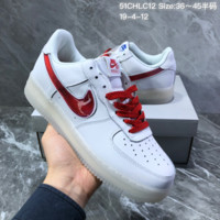 HCXX N1389 Nike Air Force 1 Low De Lo Mio Casual Skateboard Shoes White Red