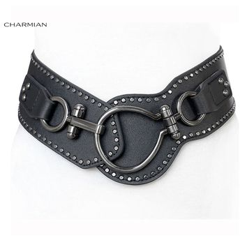 Charmian Vintage Steampunk Corset Belt Fashion Women Gothic Elastic Waist Belt Punk Rock Clothing Costume Corset Accessories