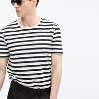 Striped piqué t-shirt