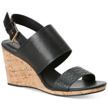 Calvin Klein Women's Bibbi Wedge Sandals - Only at Macy's