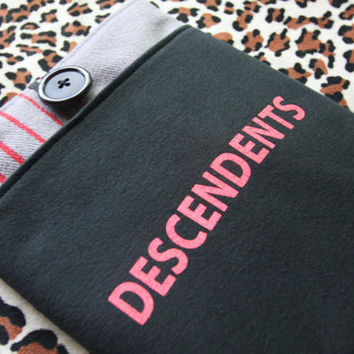 DESCENDENTS - Upcycled Rock Band T-shirt iPad Tablet Sleeve - OOAK