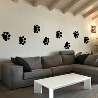 Vinyl Wall Decal Sticker Dog Tracks #OS_MB738