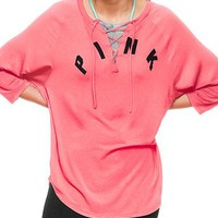Women's Casual Athletic Shirt with Three Quarter Length Sleeves
