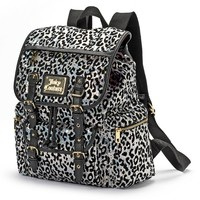Juicy Couture Rainbow Sequin Leopard Backpack (Silver Rainbow)