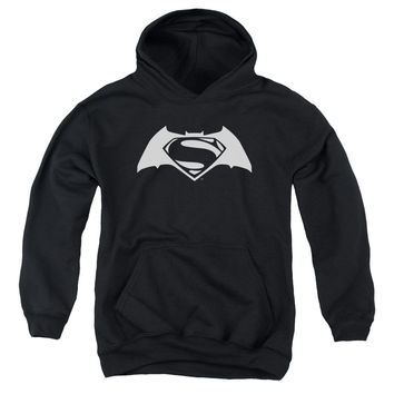 "Batman vs. Superman ""White Logo"" Pull-over  Youth Hoodie"