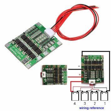 1pc 4S 14.8V 30A BMS PCB Protection Board For 18650 Li-ion Lithium Battery Cell Module Over Current Protection Board Balance