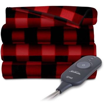 Sunbeam Electric Heated Fleece Throw - Walmart.com