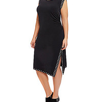 MICHAEL Michael Kors Plus Studded Dress - Black