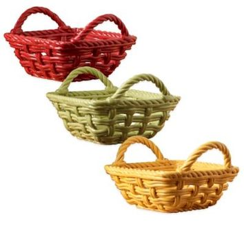 Tabletops Unlimited® Costa Rica Earthenware Bread Basket