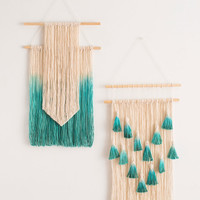 fringed tapestry original art manual hanging wall decoration