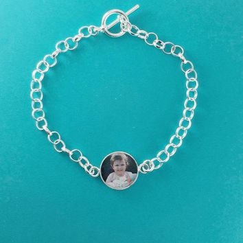 Keepsake One Photo Charm Bracelet