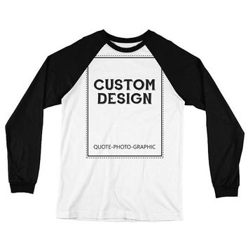 Personalized Long Sleeve Baseball T-Shirt