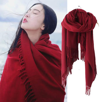 Cashmere Winter Red Scarf [9052547908]