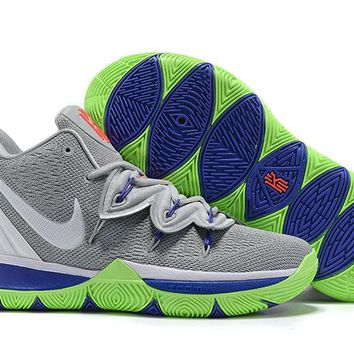 """KYRIE 5 Grey&Green """"Sprite"""" Basketball Shoes"""