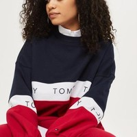 Tommy Hilfiger Women Color matching Scoop Neck Long Sleeve Pullover