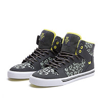 SUPRA WMNS VAIDER Shoe | CHEETAH / CHARCOAL / LIME-WHT | Official SUPRA Footwear Site