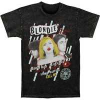 Blondie Men's  Vintage T-shirt Black Rockabilia