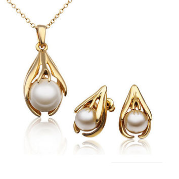 Simulated Pearl Jewelry Sets For Women | Tophatter