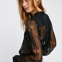 Free People Quinn Printed Blouse