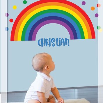 Rainbow Wall decal, Rainbow with polka dots, Rainbow wall sticker, Nursery Wall decal