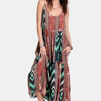 Aztec Minky Maxi Dress By One Teaspoon