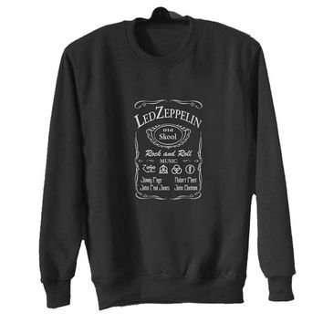 led zeppelin sweater Black Sweatshirt Crewneck Men or Women for Unisex Size with variant colour