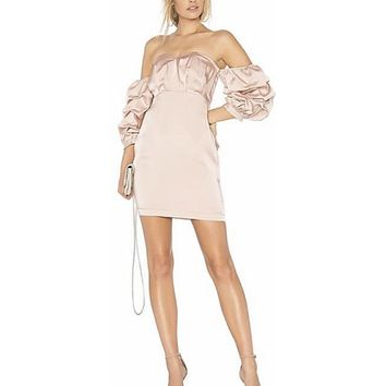 Endless Rose SATIN DRESS IN DUSTY ROSE