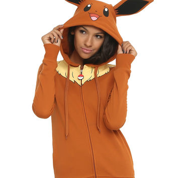 Pokemon Eevee Girls Costume Hoodie