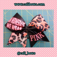 "on Wednesday's we wear pink 3"" cheer bow"