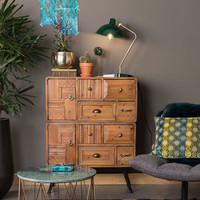 Jove Solid Fir Wood Cabinet With Antique Finish