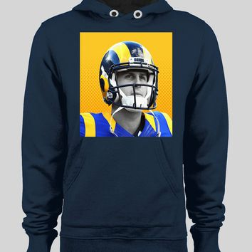 LOS ANGELES RAM'S JARED GOFF POP ART FOOTBALL WINTER HOODIE/ SWEATER