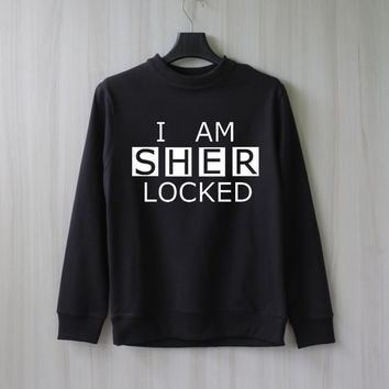 I Am Sherlocked Sweatshirt Sweater Shirt – Size XS S M L XL