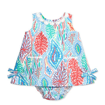Baby Lilly Shift Dress, Minnow, 3-24 Months - Lilly Pulitzer - Multi let minnow