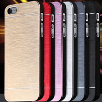 Aluminum Metal Brush Case For iphone 5 5S 5G Hard Phone Back Cover