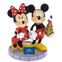 Disney Parks EPCOT World Showcase Mickey and Minnie Mouse Figurine New