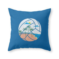 Society6 Beach Volleyball Throw Pillow