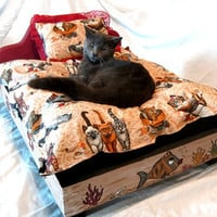 Hand Crafted Decorative Designer Wooden Pet Bed by Cloud9PetBeds