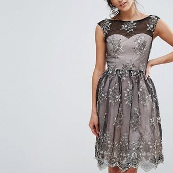 Little Mistress Embroidery Prom Dress at asos.com