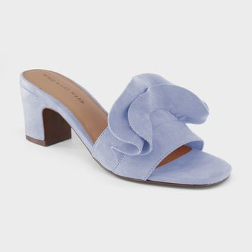 Women's Ruffle Heeled Slide Sandals - Who What Wear™