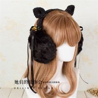 Fashion Ear cover earmuffs warm winter Lolita cute cat ears White Black handmade free shipping-in Hair Accessories from Women's Clothing & Accessories on Aliexpress.com | Alibaba Group