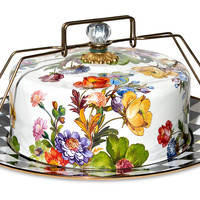 Flower Market Cake Carrier, White, Cake Stands & Tiered Trays