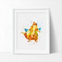 Floatzel, Pokemon Watercolor Art Print